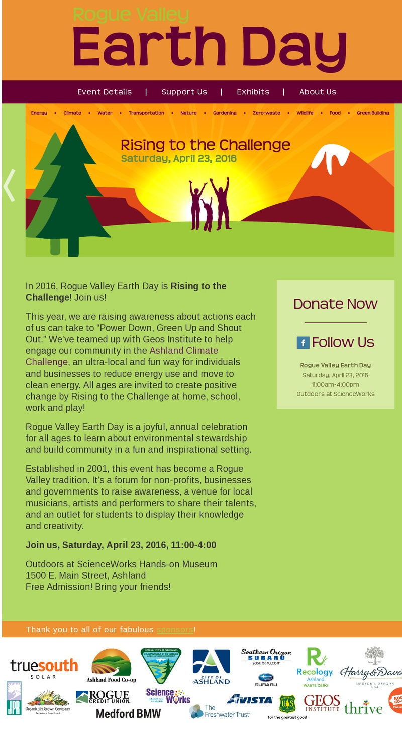 Rogue Valley Earth Day